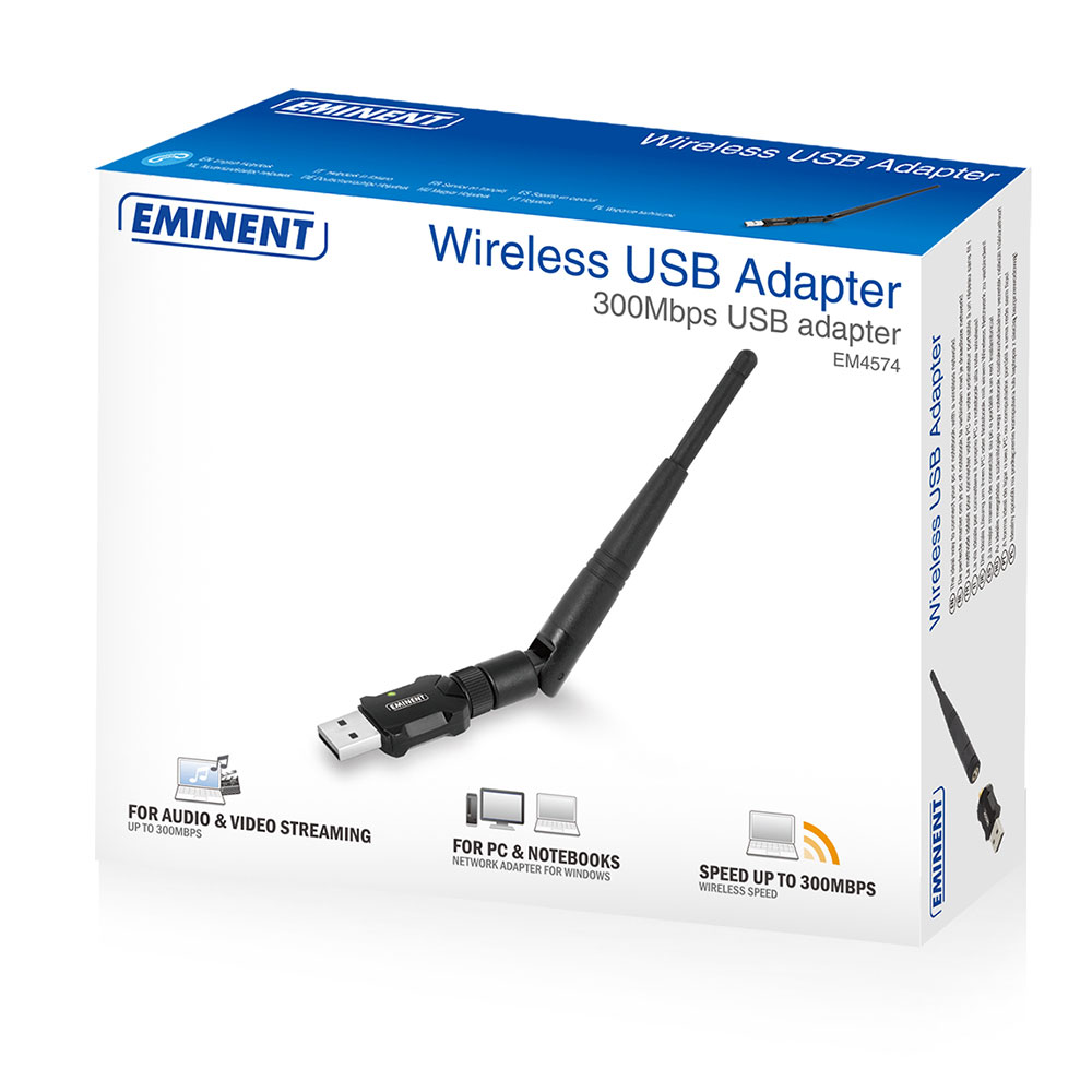 300Mbps Wireless USB Adapter with external antenna