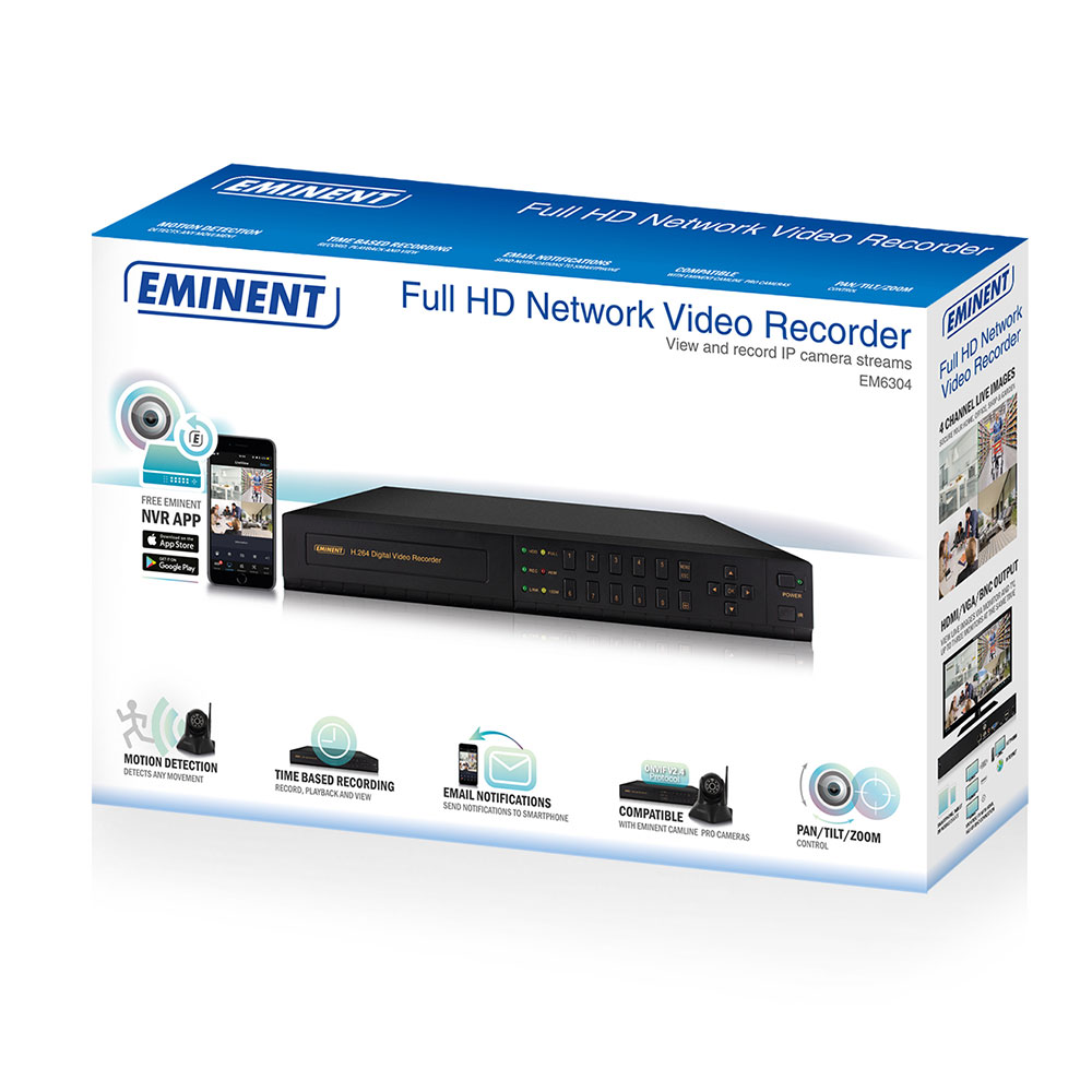 Full HD 4-kanaals Surveillance Netwerk Video Recorder
