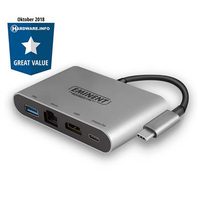 Station multiport USB Type-C 4K avec HDMI, USB Type-A, Ethernet et USB Type-C