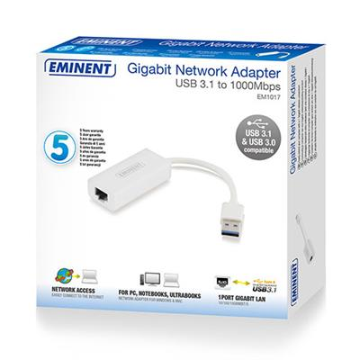 USB 3.1 Gen1 (USB 3.0) Gigabit Networking Adapter