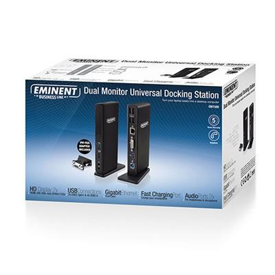Dual Display Docking Station USB 3.1 Gen1 (USB 3.0)