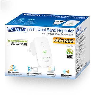 Concurrent AC1200 Dual Band WiFi Repeater